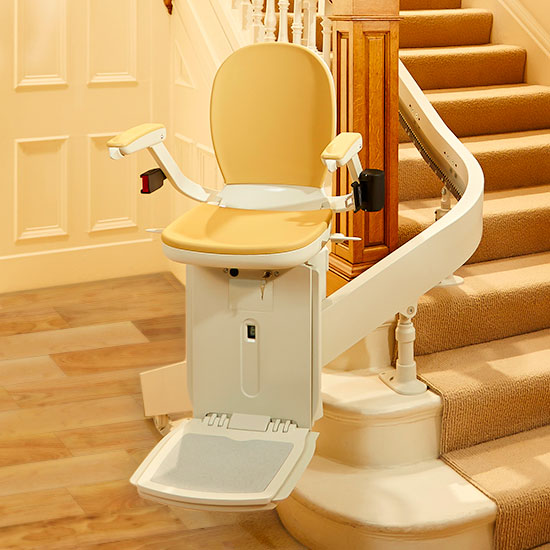 custom curved stairchair acorn 180 san francisco stairlift installation