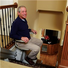 bruno elan sre3000 Los Angeles CA Santa Ana Costa Mesa Long Beach  StairLifts stairway indoor residential home chair lift