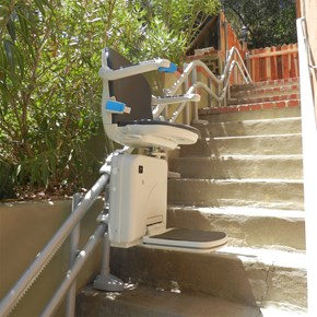 stairchair san jose handicare outdoor 2000 exterior outside stairlift